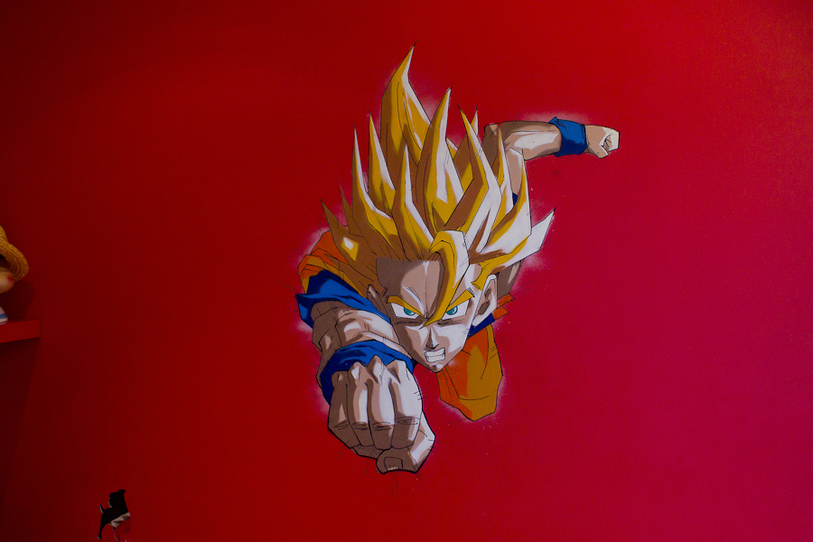 décoration enfant graffiti dragon ball Z